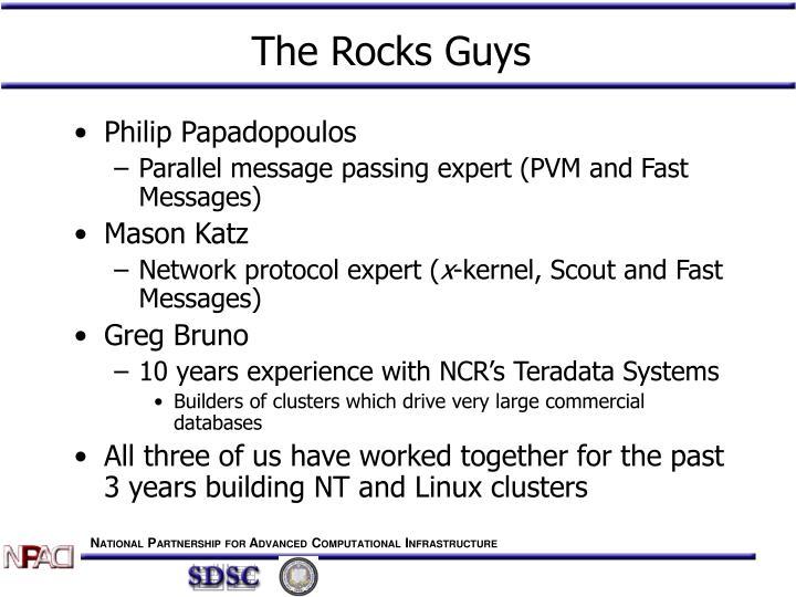 The rocks guys
