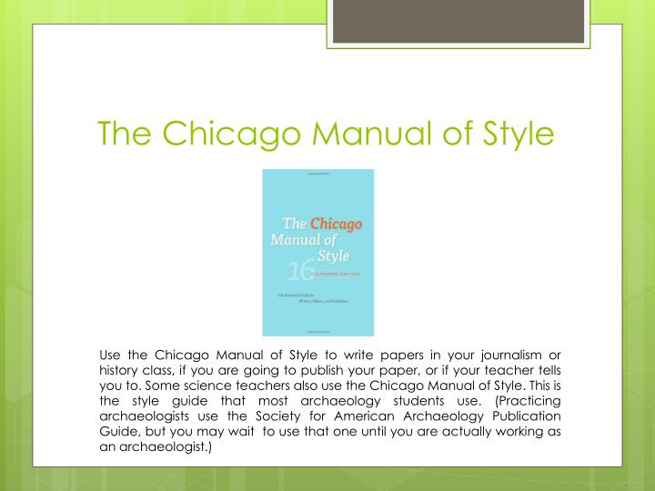 chicago manual of style works cited Citing sources -- chicago  of the chicago manual of style presents chicago's bibliography style  appear on the bottom of the page on which a work is cited,.