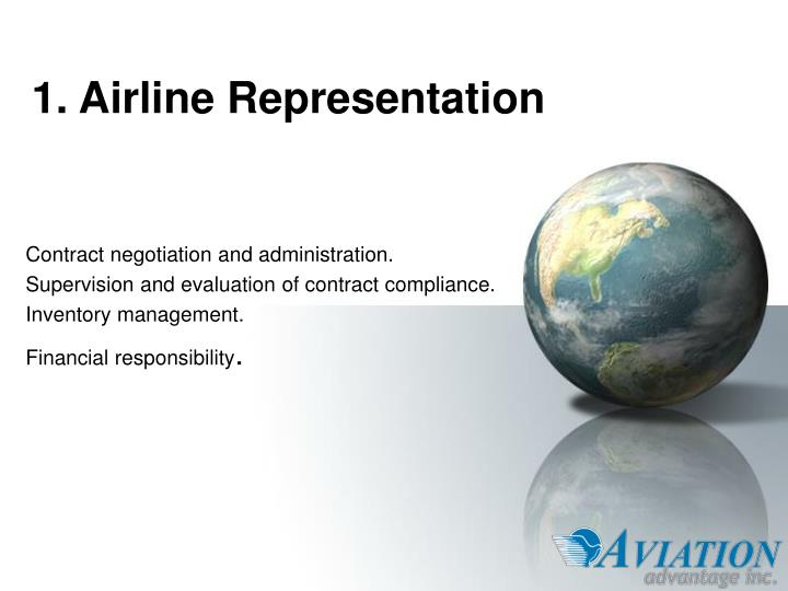 1 airline representation