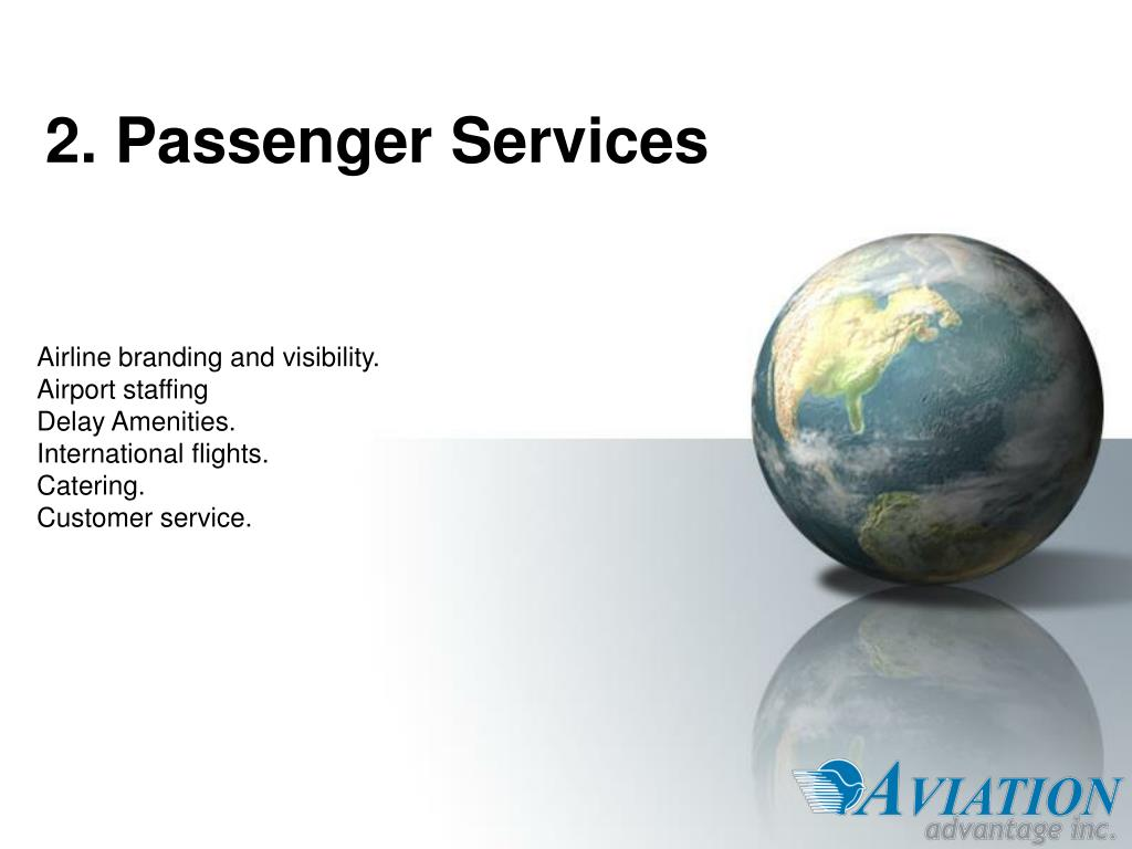 2. Passenger Services