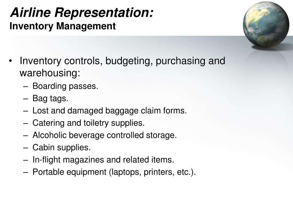 Airline Representation: