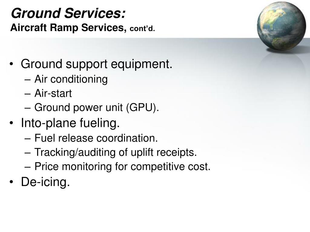 Ground Services: