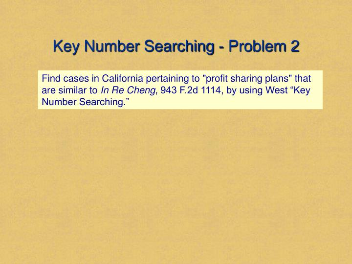 Key Number Searching - Problem 2
