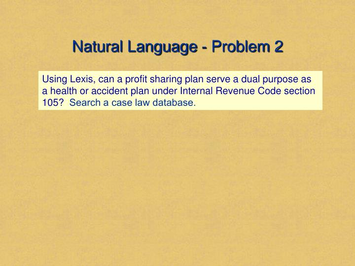 Natural Language - Problem 2