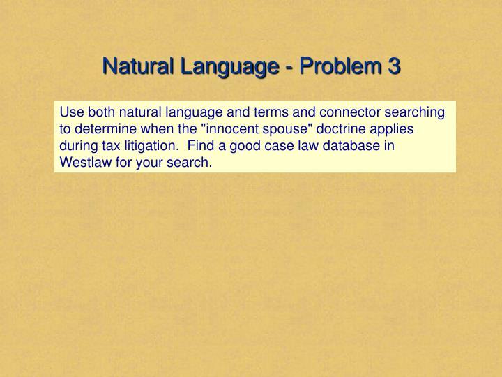 Natural Language - Problem 3