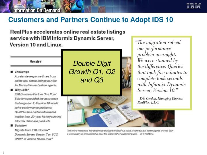 Customers and Partners Continue to Adopt IDS 10