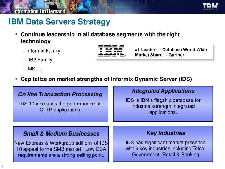"""#1 Leader – """"Database World Wide Market Share"""""""
