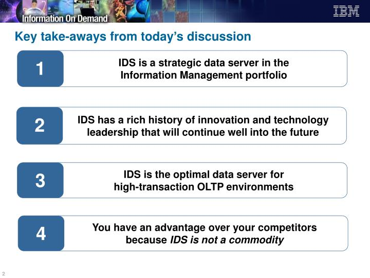 Key take aways from today s discussion