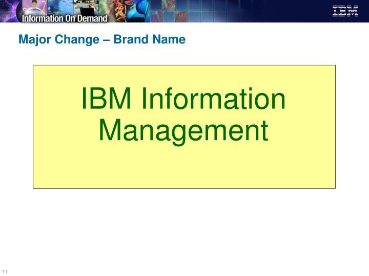 IBM Information Management