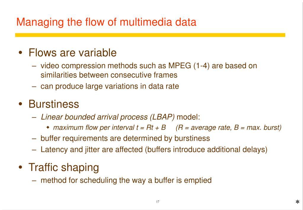 Managing the flow of multimedia data