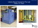 liberty mutual insurance fire lab class a oven