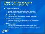 upnp av architecture upnp av services playback
