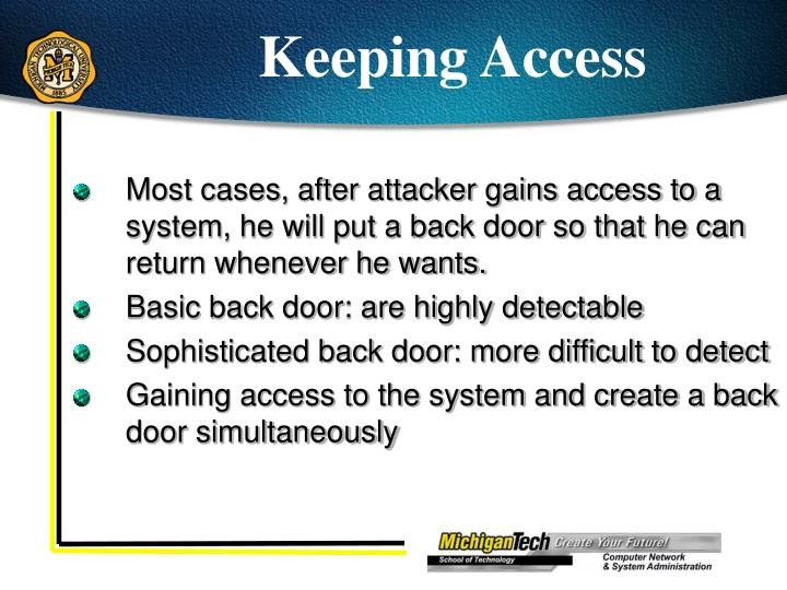 Keeping Access