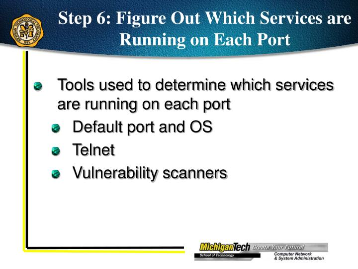 Step 6: Figure Out Which Services are Running on Each Port
