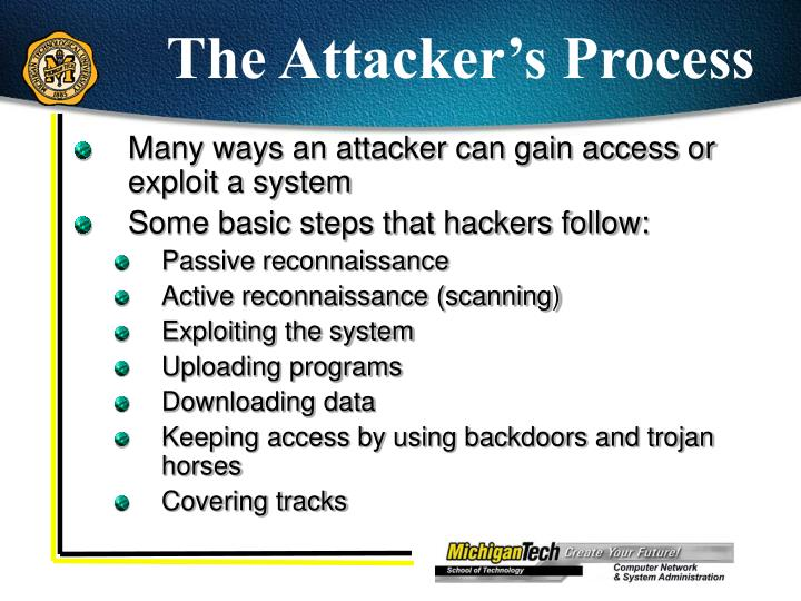 The Attacker's Process