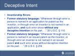 deceptive intent1
