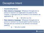deceptive intent2