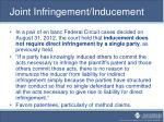 joint infringement inducement