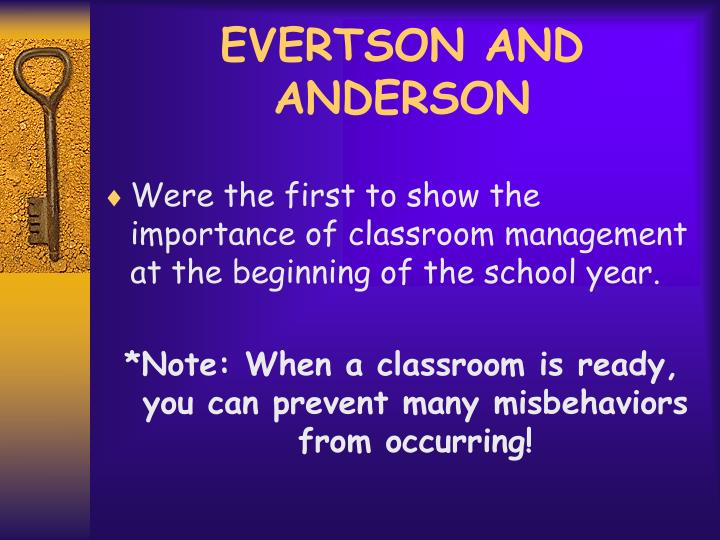 EVERTSON AND ANDERSON