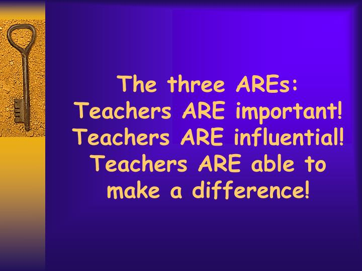 The three AREs: