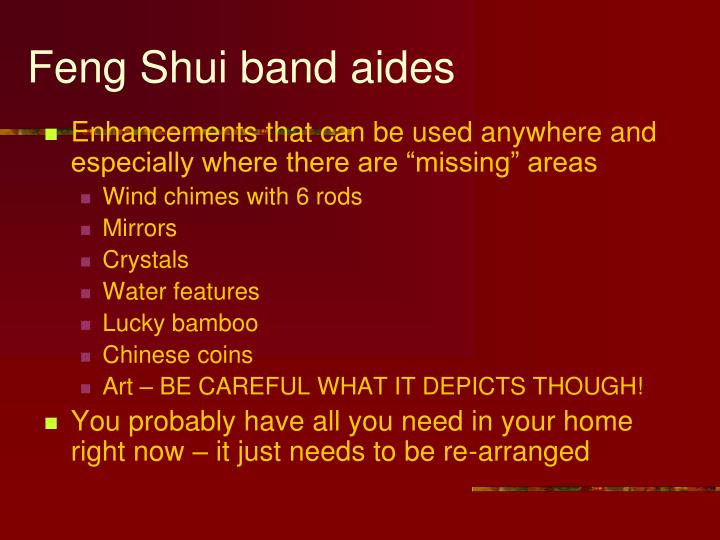 Feng Shui band aides