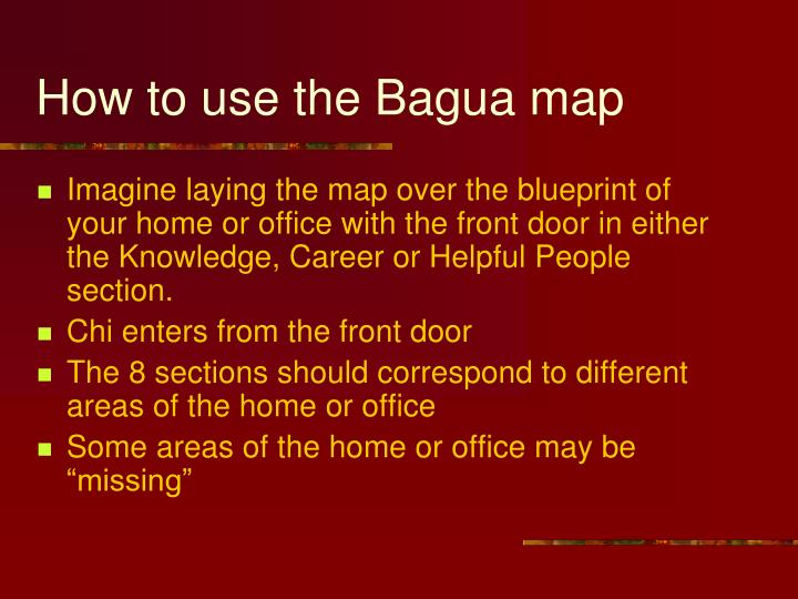How to use the Bagua map