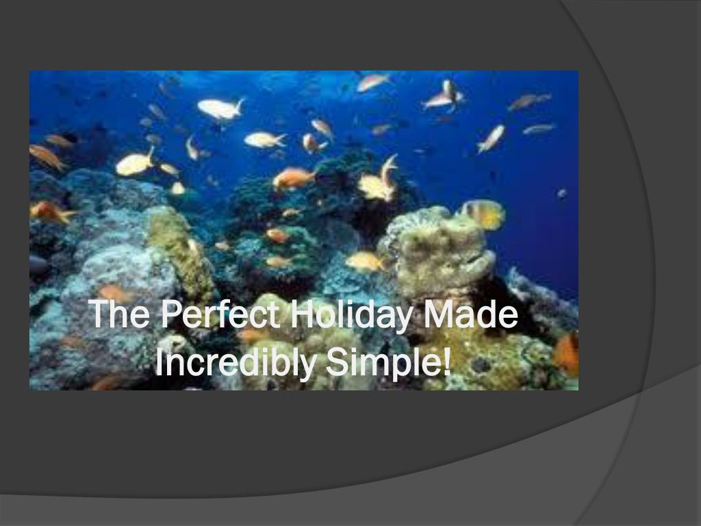 The Perfect Holiday Made Incredibly Simple!