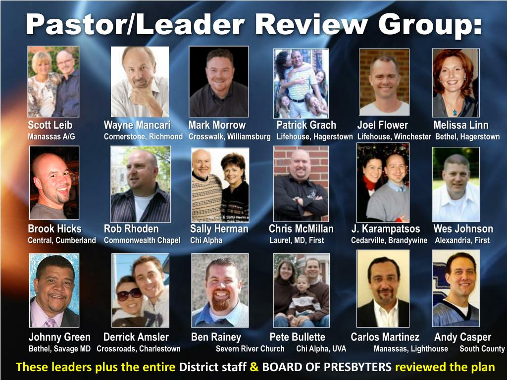 Pastor/Leader Review Group: