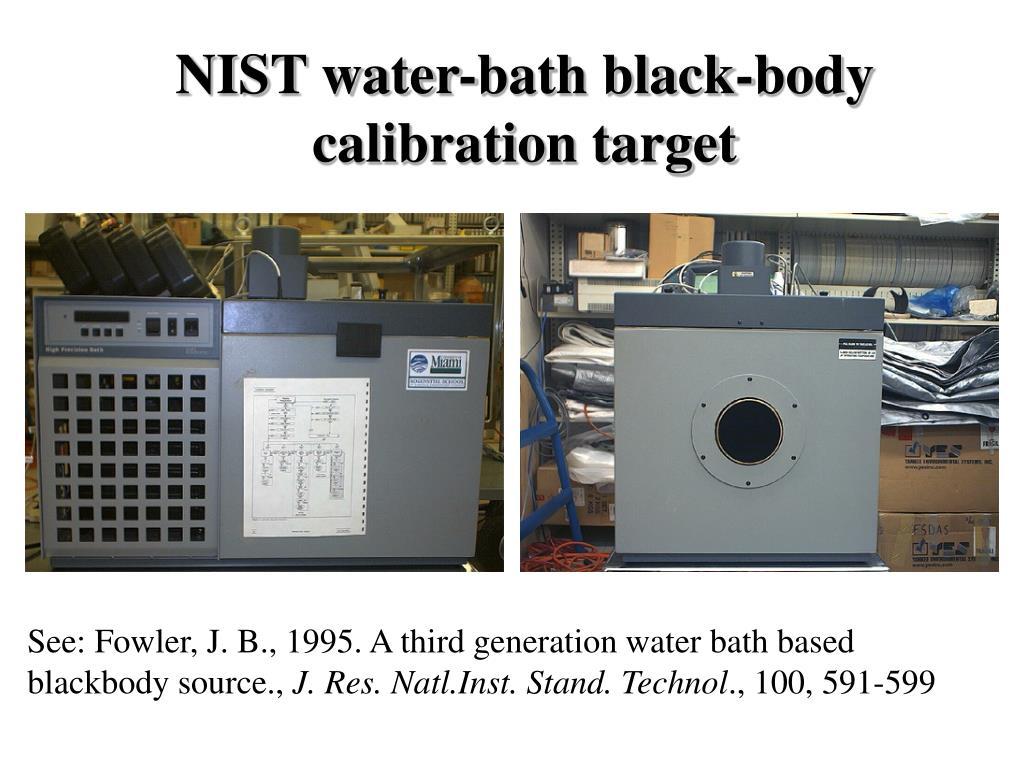 NIST water-bath black-body calibration target