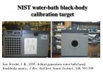 nist water bath black body calibration target