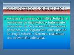pronostico y prevencion