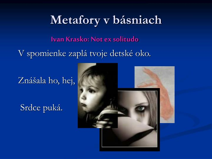 Metafory v básniach