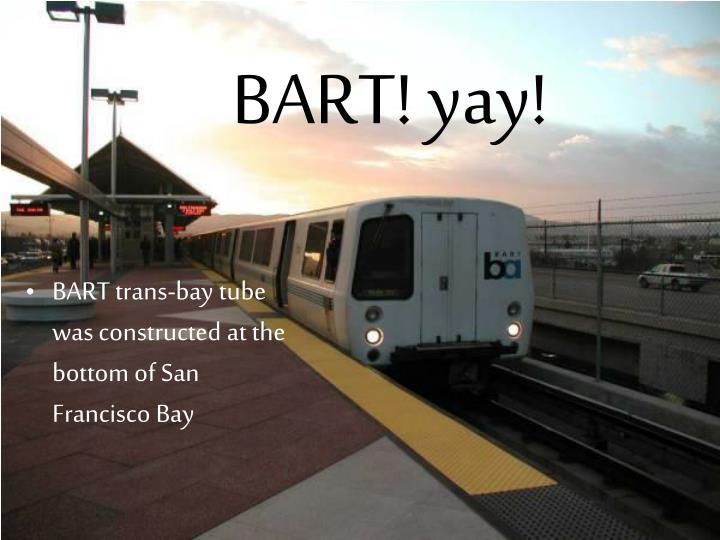 BART! yay!