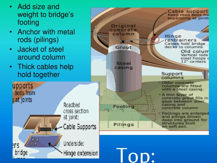 Add size and weight to bridge's footing