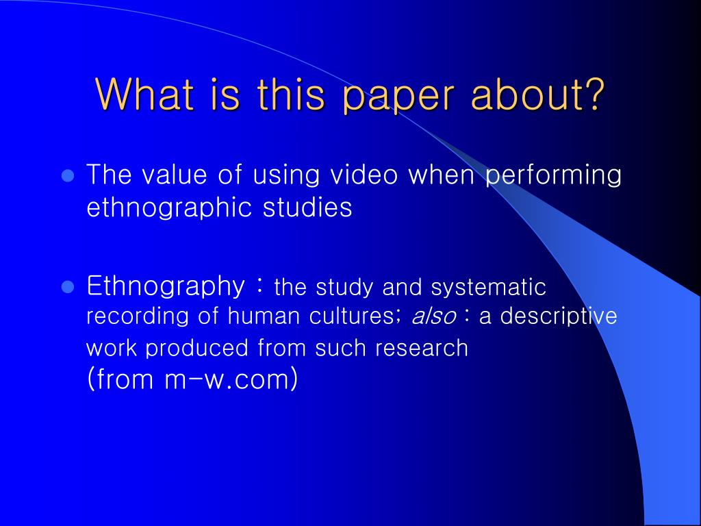 anthropolgy cultural research paper
