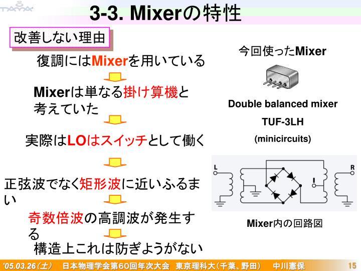 3-3. Mixer