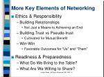more key elements of networking