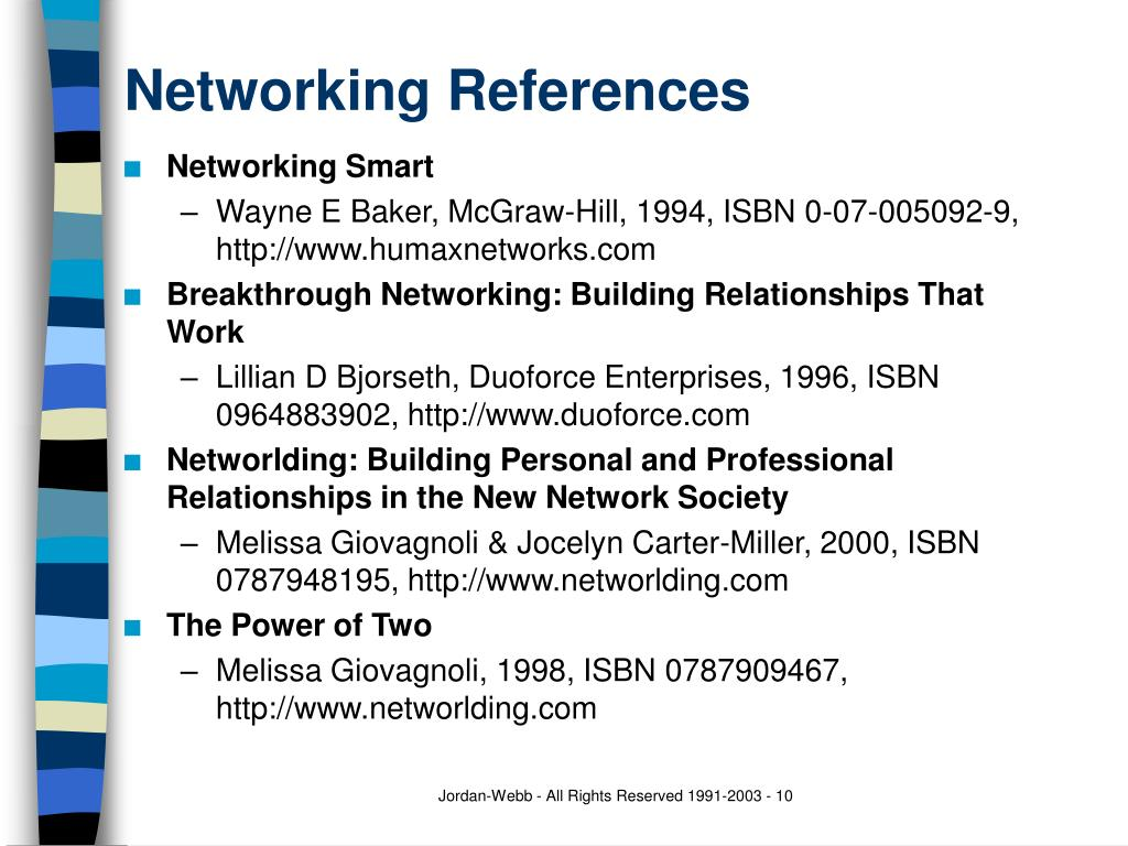 Networking References