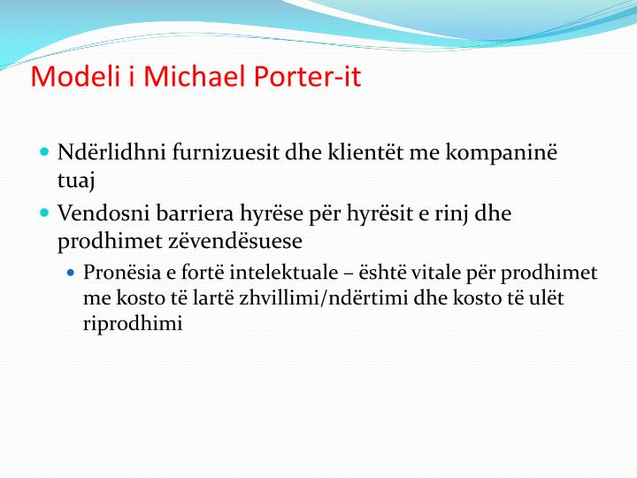 Modeli i Michael Porter-it