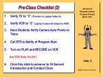pre class checklist 2