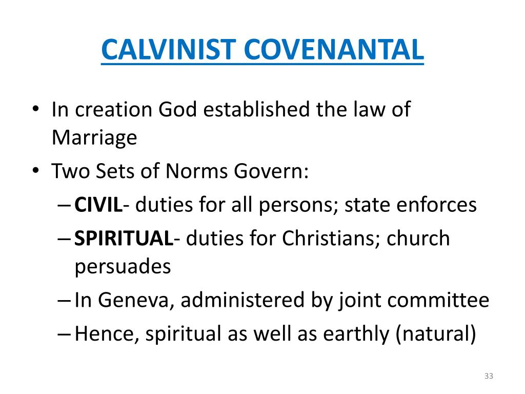 CALVINIST COVENANTAL