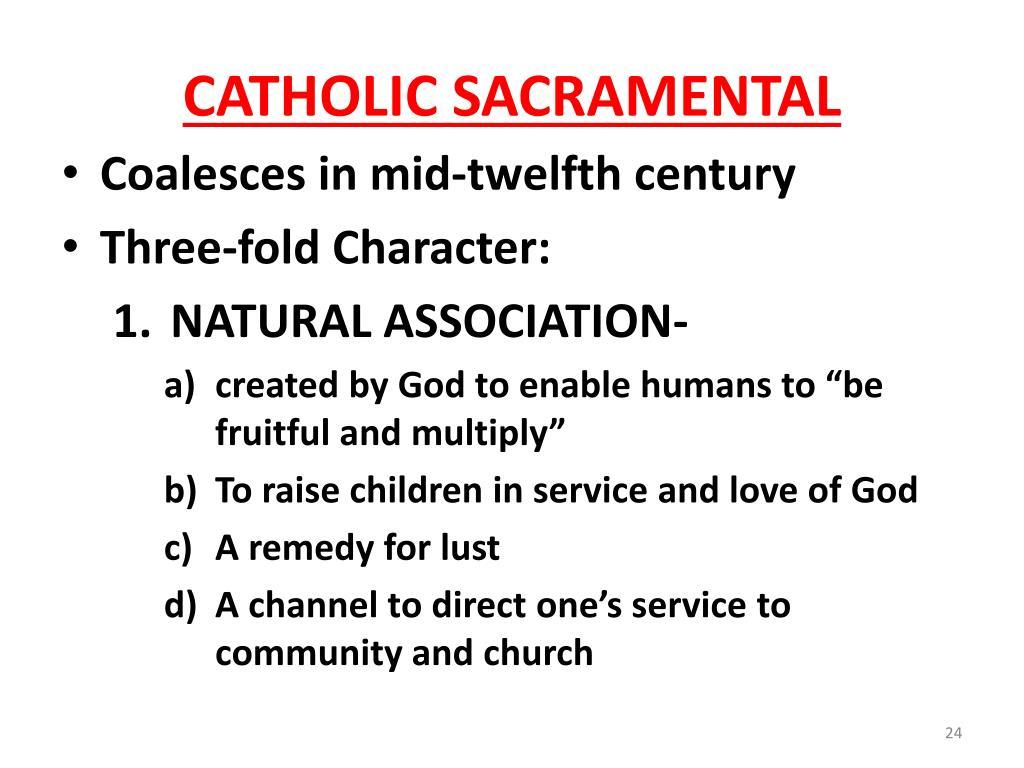 CATHOLIC SACRAMENTAL