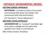 catholic sacramental model