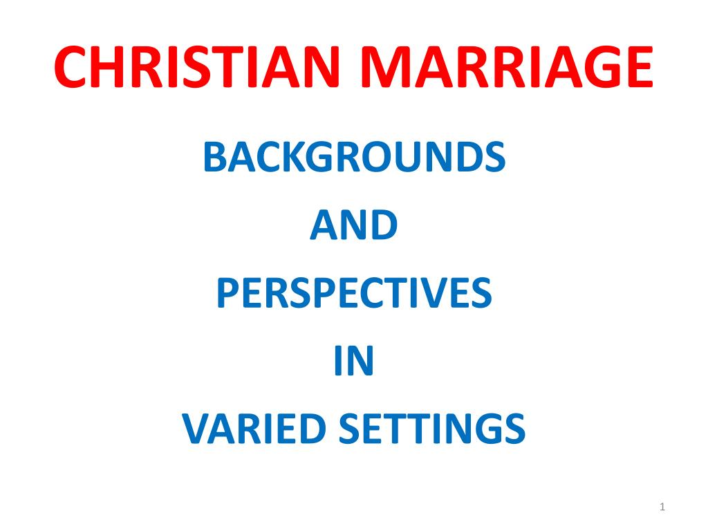 christian marriage l.