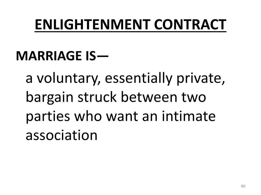 ENLIGHTENMENT CONTRACT