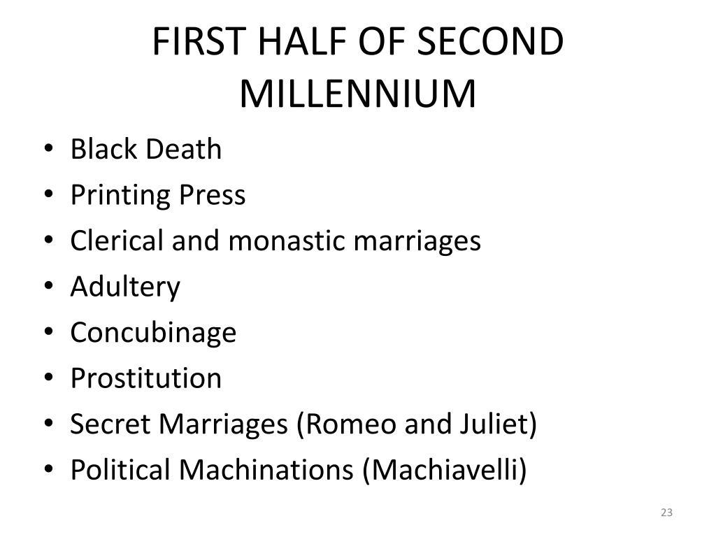FIRST HALF OF SECOND MILLENNIUM
