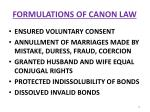 formulations of canon law14