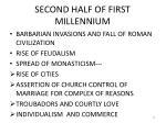 second half of first millennium