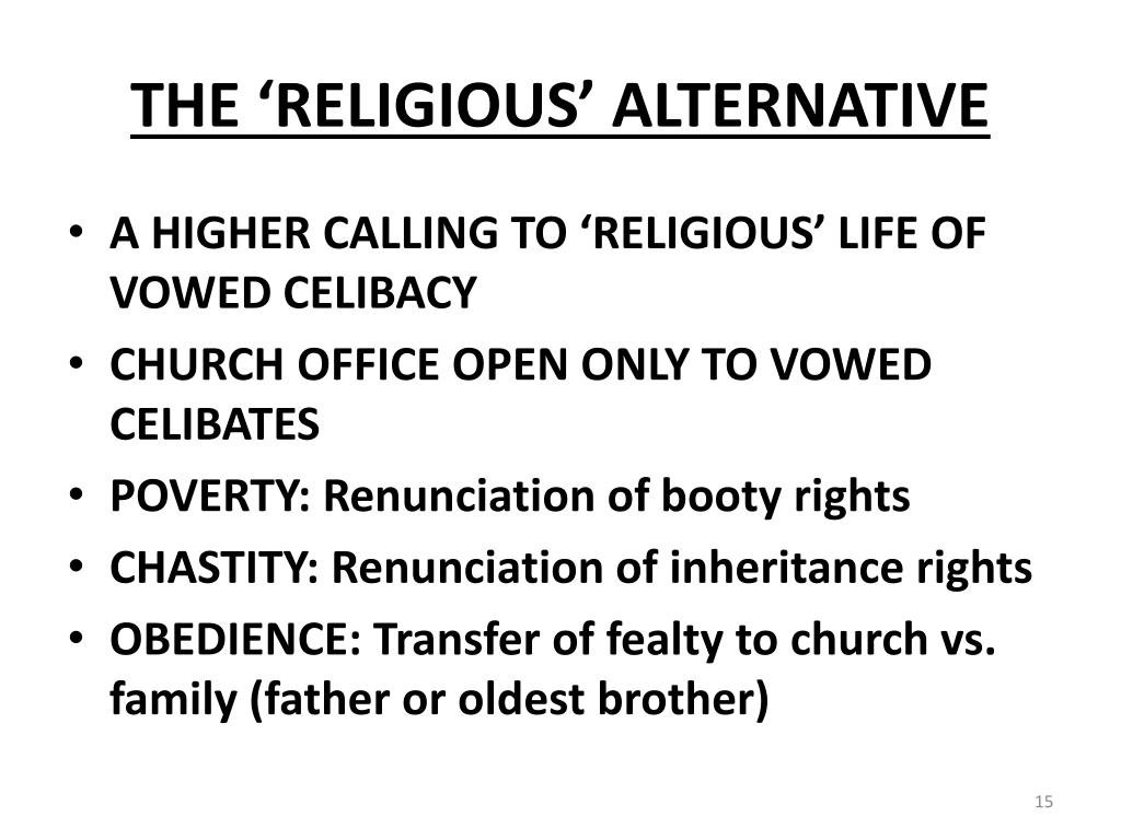 THE 'RELIGIOUS' ALTERNATIVE