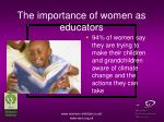 the importance of women as educators